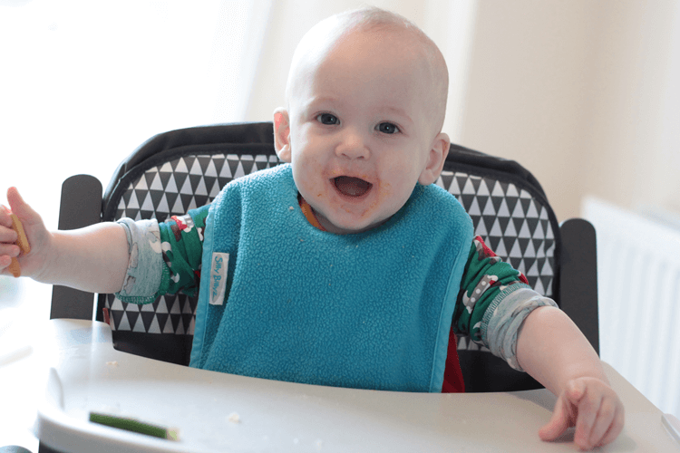 Gabe likes the Babymoov high chair