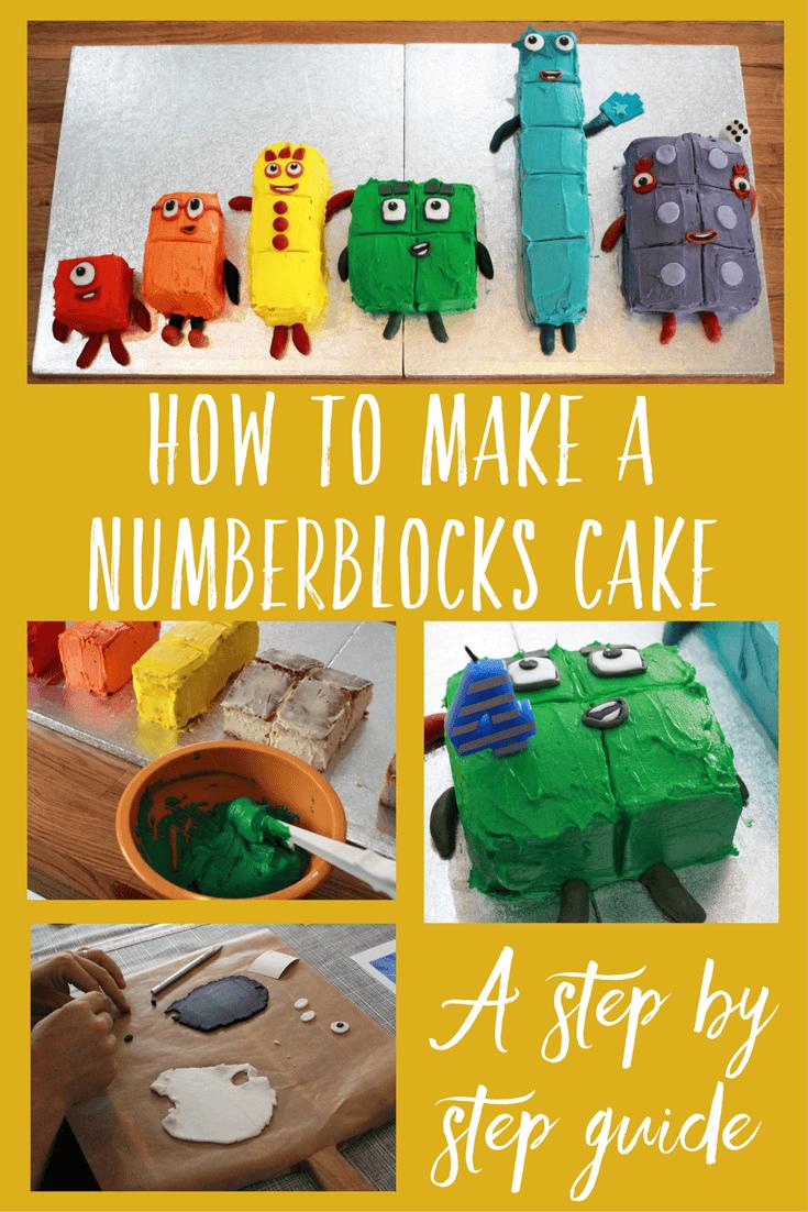 How to make a Numberblocks cake