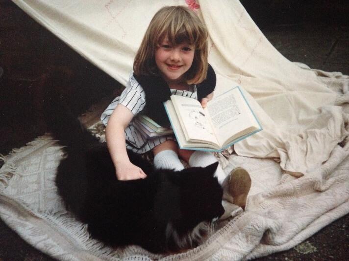 Lauren from Sophie's Nursery with her cat Emily