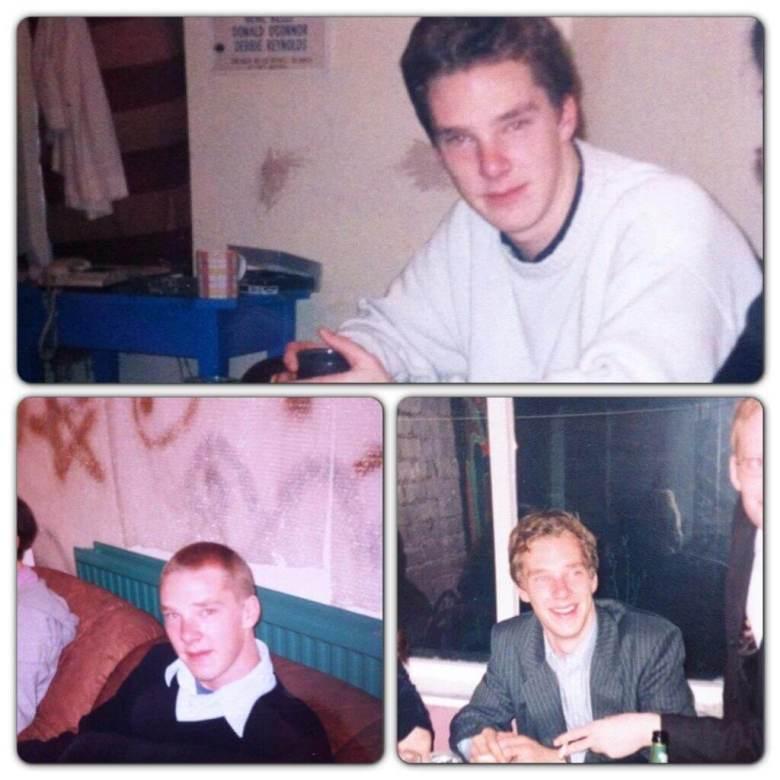 Benedict Cumberbatch at university in 1998