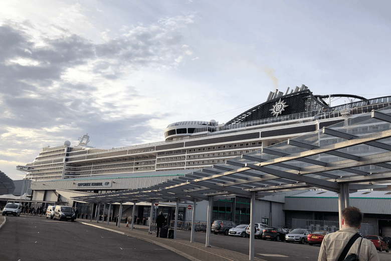 The MSC Preziosa in Southampton