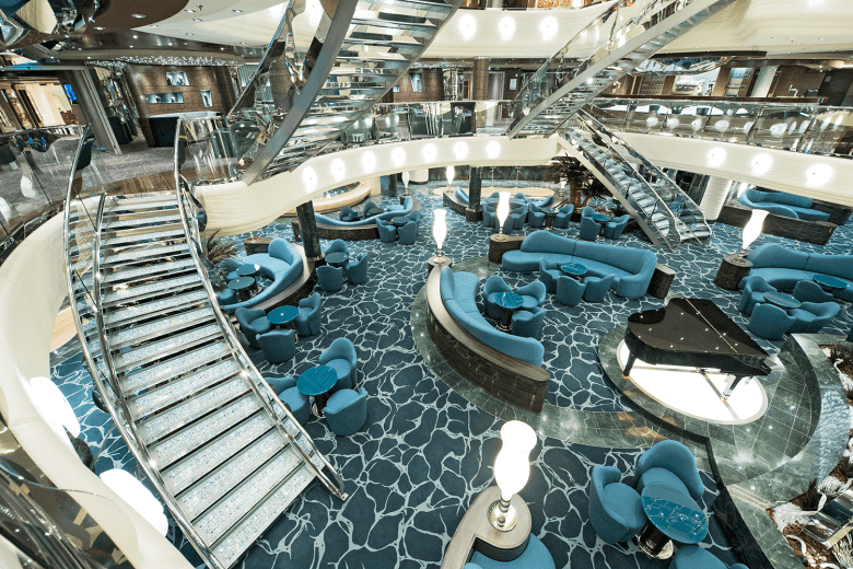 The atrium on the MSC Preziosa