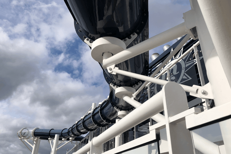 Water slide on the MSC Preziosa