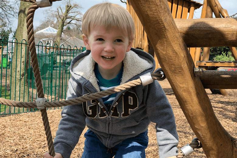 Gabe enjoying himself at the park