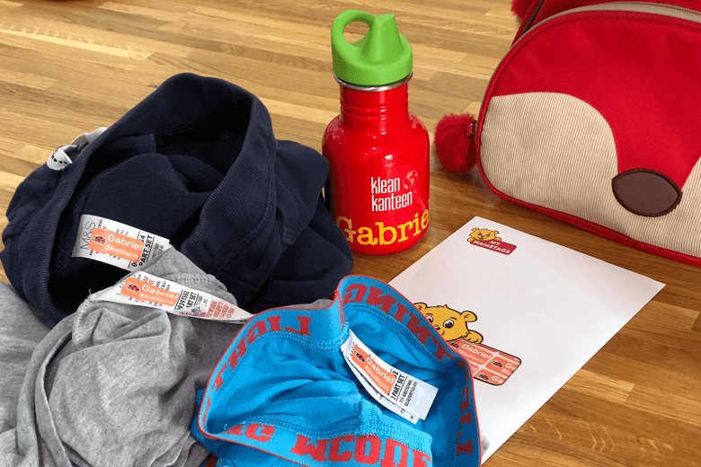 Name labels in spare clothes for preschool
