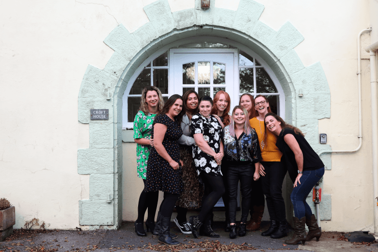 Bloggers ready for a night out at Croft House
