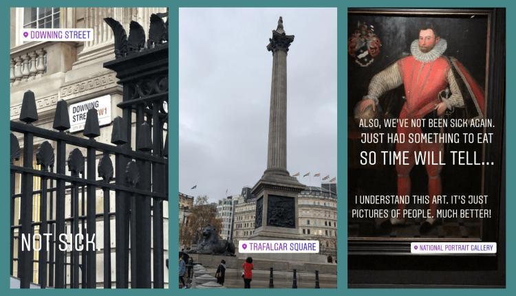 Downing Street, Trafalgar Square, Portraits