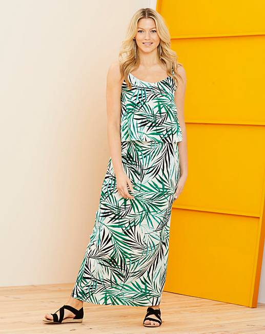 Palm print maxi dress from Fashion World