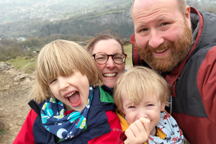 Me & Mine April 2019 at the top of the Heights of Abraham