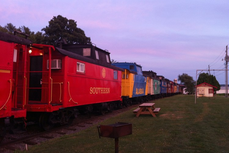 Find unique places to stay on a USA road trip - Red Caboose Motel, Lancaster County