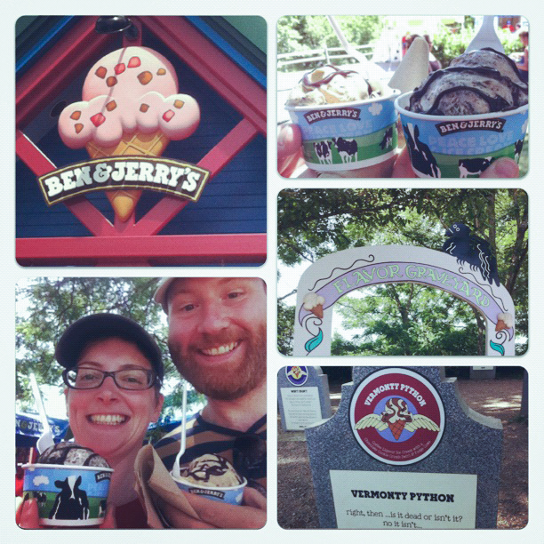 Visiting the Ben & Jerry's factory in Vermont