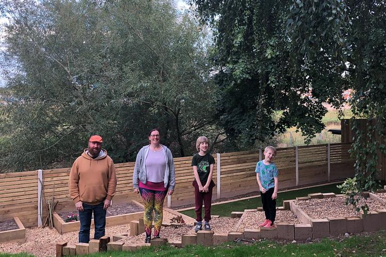 Family photo in our garden