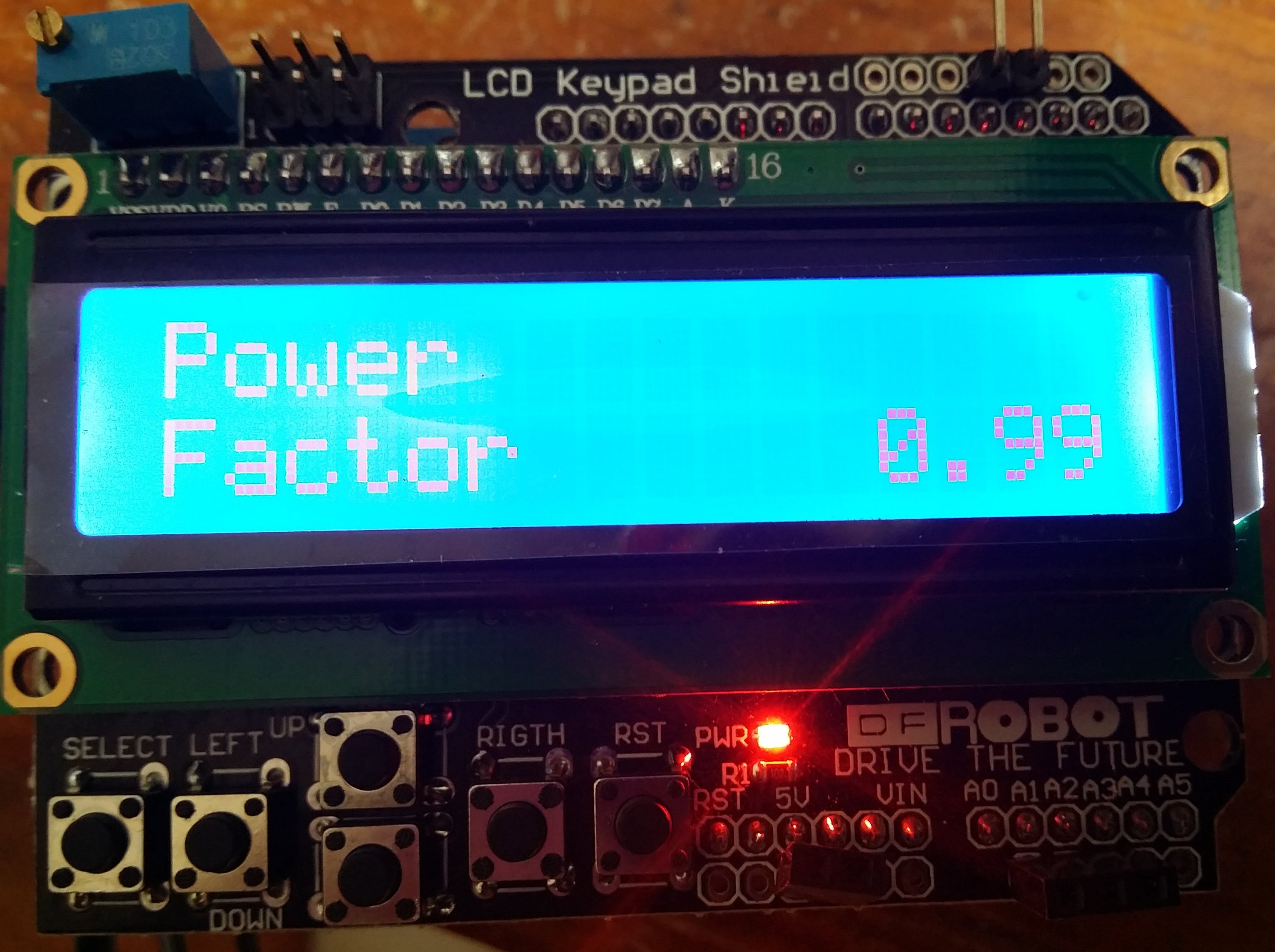 power factor meter wiring diagram razor electric scooter  lcd and arduino based