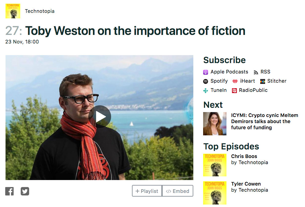 Toby Weston – New Interview