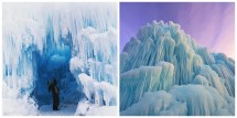 Ice Castle Hampshire Incredible Sculpture