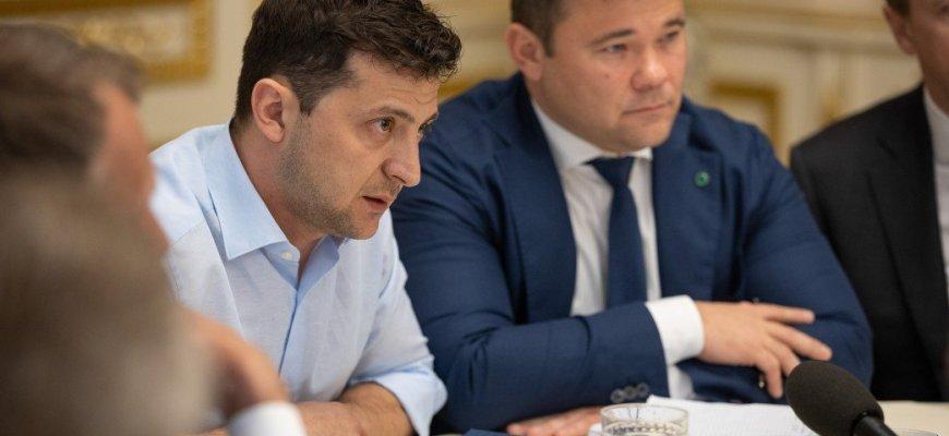 Андрей Богдан, справа, глава АП украины, фото- пресс-служба президента Украины