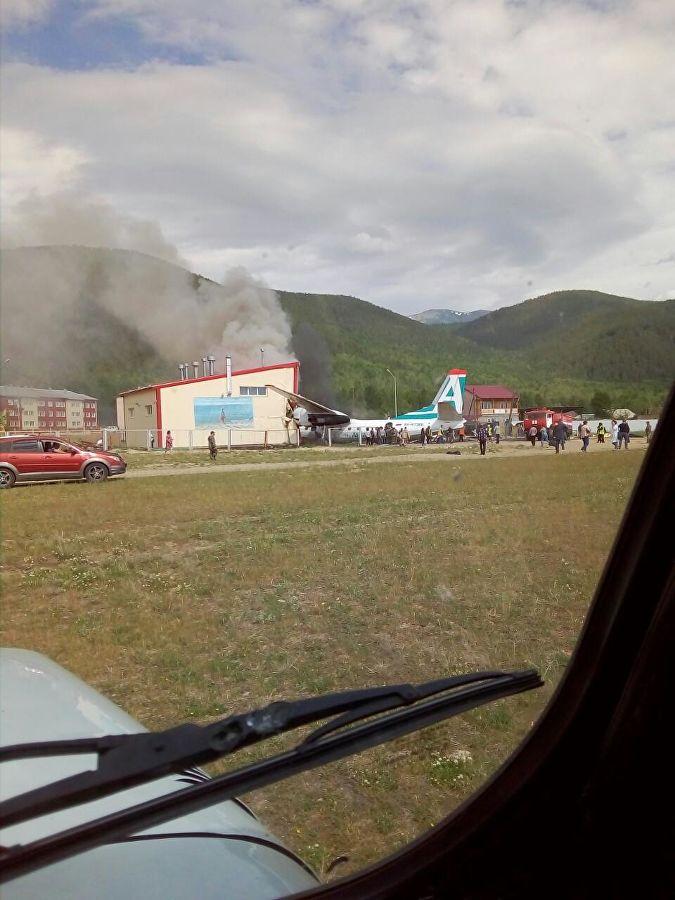 Авиакатастрофа АН-24 в аэропорту Нижнеангарска \ фото - правительство Бурятии