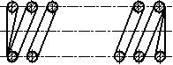 Рисунок 16 - Продольный разрез пружины