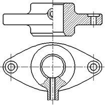 Рисунок 21 - Примеры совмещения части вида и разреза
