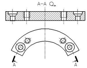 Рисунок 27 - Сечение цилиндрической поверхностью