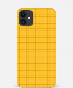 Yellow Checks iPhone 12 Mini Mobile Cover