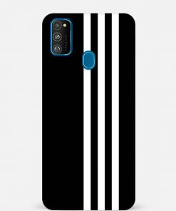 White Stripe Samsung Galaxy M30s Mobile Cover