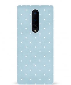 White Dotted Oneplus 8 Mobile Cover
