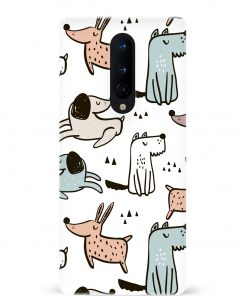 Dogs Oneplus 8 Mobile Cover