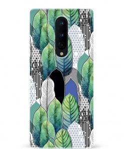 Exotic Leaves Oneplus 8 Mobile Cover