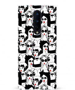 Fashion Girl Oneplus 8 Mobile Cover