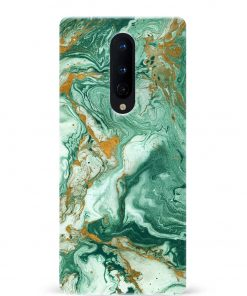 Green Paint Oneplus 8 Mobile Cover