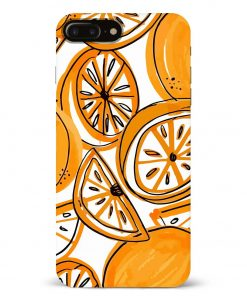 Orange Doodle iPhone 8 Plus Mobile Cover