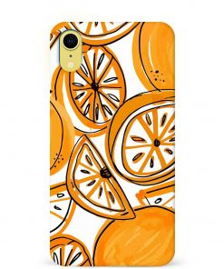Orange Doodle iPhone XR Mobile Cover