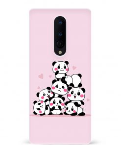Pink Panda Oneplus 8 Mobile Cover