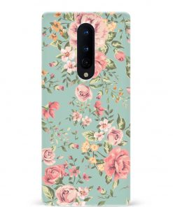 Vintage Flowers Oneplus 8 Mobile Cover
