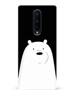 White Bear Oneplus 8 Mobile Cover