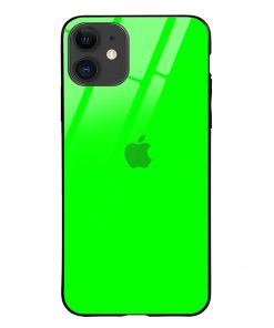 Bright Green iPhone 12 Glass Case Cover