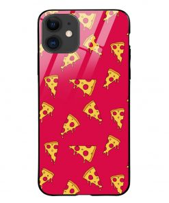 Pizza Pattern iPhone 12 Glass Case Cover