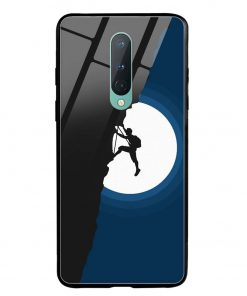 Climbing Oneplus 8 Glass Case Cover