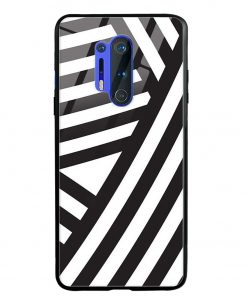 Cross Stripes Oneplus 8 Pro Glass Case Cover