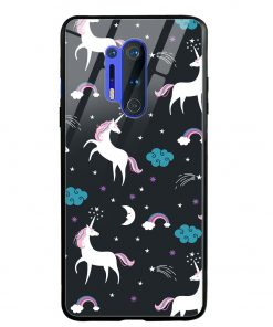 Fantasy Unicorns Oneplus 8 Pro Glass Case Cover