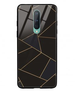 Golden Lines Oneplus 8 Glass Case Cover