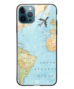 Map iPhone 12 Pro Max Glass Case Cover