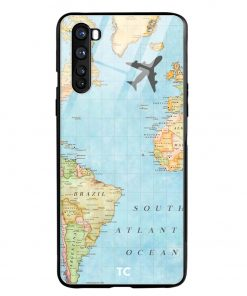 Map Oneplus Nord Glass Case Cover