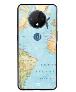 Map Oneplus 7T Glass Case Cover