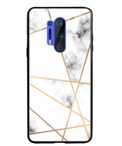 Marble Line Oneplus 8 Pro Glass Case Cover