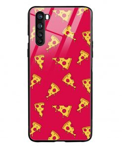 Pizza Pattern Oneplus Nord Glass Case Cover