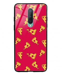 Pizza Pattern Oneplus 8 Glass Case Cover