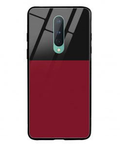 Red Black Oneplus 8 Glass Case Cover