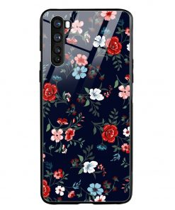 Retro Flower Oneplus Nord Glass Case Cover